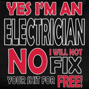 Electrician - I will not fix your shit for free Gensere - Ryggsekk for barn