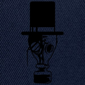 Sir cylindrical glasses monocle gentleman Mr. Hat  T-Shirts - Snapback Cap