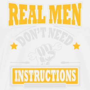 Real men don't need instructions Débardeurs - T-shirt Premium Homme