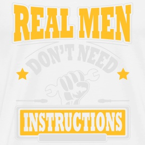 Real men don't need instructions Sportsklær - Premium T-skjorte for menn