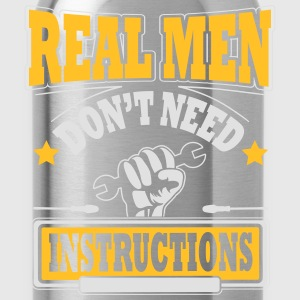 Real men don't need instructions T-shirts - Vattenflaska