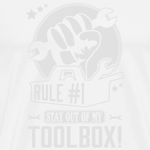 Rule #1: stay out of my toolbox Tank Tops - Männer Premium T-Shirt
