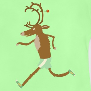 Kelly green running reindeer Shirts - Baby T-Shirt