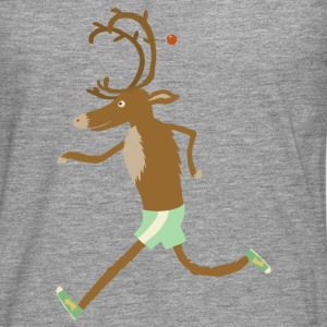 Light grey running reindeer Other - Men's Premium Longsleeve Shirt