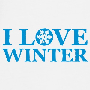 Thermobecher - I LOVE WINTER - Männer Premium T-Shirt