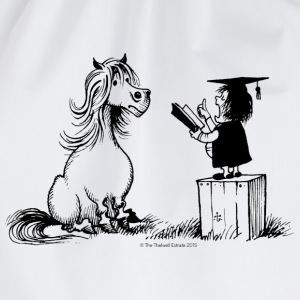 Thelwell - Pony is learning at school - Mochila saco