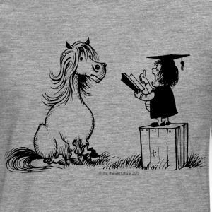 Thelwell - Pony is learning at school - Camiseta de manga larga premium hombre