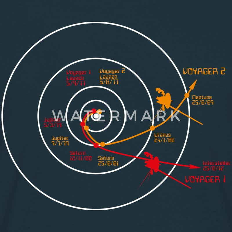 Voyager Space Craft - Men's T-Shirt