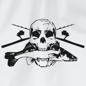 JSA Fishing Skull (R) black in high quality! Tassen & Zubehör - Turnbeutel