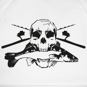 JSA Fishing Skull (R) black in high quality! Tassen & Zubehör - Baseballkappe
