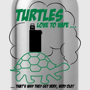 TURTLES love to vape ... T-Shirts - Water Bottle