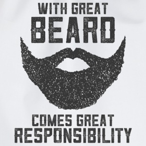 With Great Beard Comes Great Responsibility Tee shirts - Sac de sport léger