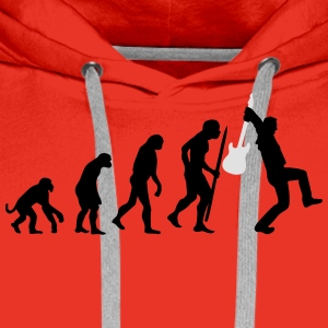 Evolution of rock Tee shirts - Sweat-shirt à capuche Premium pour hommes