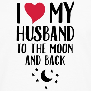 I Love (Heart) My Husband To The Moon And Back Magliette - Maglietta Premium a manica lunga da uomo