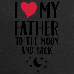 I Love (Heart) My Father To The Moon And Back Mugs & Drinkware - Men's Sweatshirt by Stanley & Stella