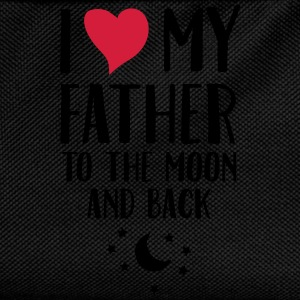I Love (Heart) My Father To The Moon And Back Mugs & Drinkware - Kids' Backpack