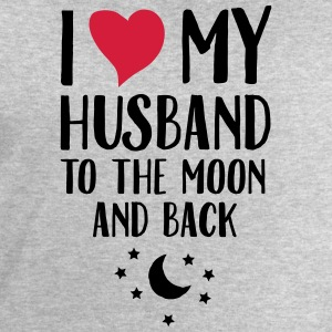 I Love (Heart) My Husband To The Moon And Back T-shirts - Mannen sweatshirt van Stanley & Stella