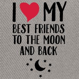 I Love (Heart) My Best Friend To The Moon And Back T-shirts - Snapbackkeps