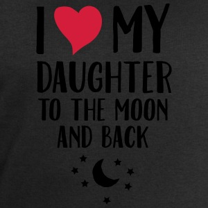 I Love (Heart) My Daughter To The Moon And Back T-shirts - Herresweatshirt fra Stanley og Stella