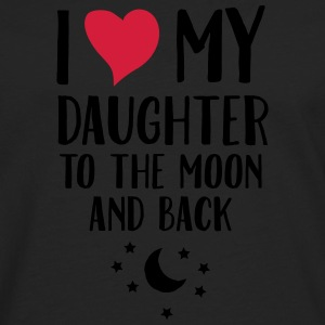 I Love (Heart) My Daughter To The Moon And Back T-shirts - Herre premium T-shirt med lange ærmer