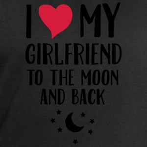 I Love (Heart) My Girlfriend To The Moon And Back T-Shirts - Men's Sweatshirt by Stanley & Stella