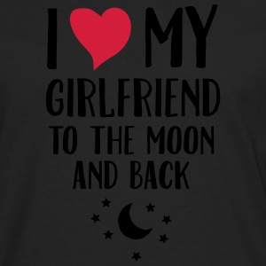 I Love (Heart) My Girlfriend To The Moon And Back T-shirts - Mannen Premium shirt met lange mouwen