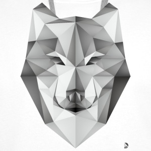 AD Geometric Wolf Caps & Hats - Men's Premium Hoodie