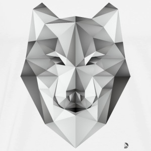 AD Geometric Wolf Caps & Hats - Men's Premium T-Shirt
