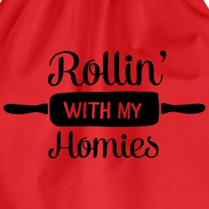 Rollin' With My Homies T-Shirts - Drawstring Bag