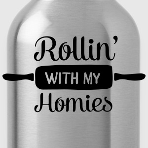Rollin' With My Homies  Aprons - Water Bottle