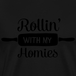 Rollin' With My Homies  Aprons - Men's Premium T-Shirt