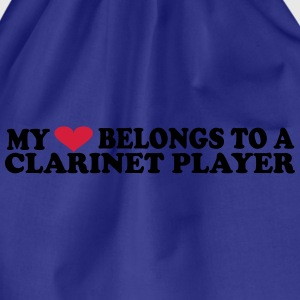 MY HEART BELONGS TO A CLARINET PLAYER T-shirts - Gymnastikpåse