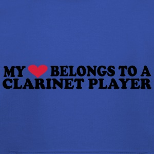 MY HEART BELONGS TO A CLARINET PLAYER T-Shirts - Kids' Premium Hoodie