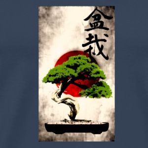 Bonsai against Japanese flag Art Print Other - Men's Premium T-Shirt