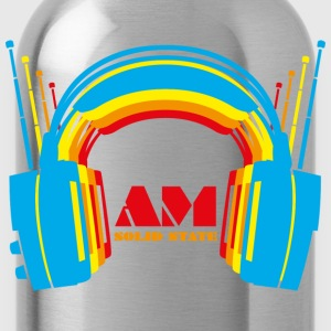 Retro Headphones T Shirt - Water Bottle