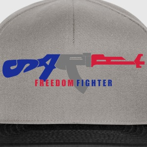 satire freedom fighter_vec3 fr Tee shirts - Casquette snapback