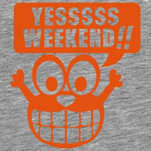 yes yessss weekend citation smiley Manches longues - T-shirt Premium Homme
