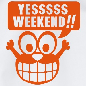 yes yessss weekend citation smiley Manches longues - Sac de sport léger