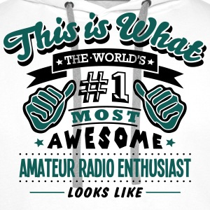AWESOME AMATEUR RADIO ENTHUSIAST - Men's Premium Hoodie