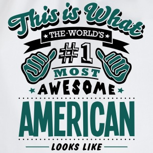 american world no1 most awesome - Drawstring Bag