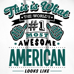 american world no1 most awesome - Men's Premium Hoodie