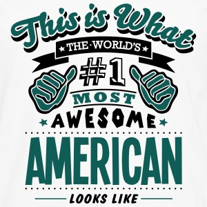 american world no1 most awesome - Men's Premium Longsleeve Shirt