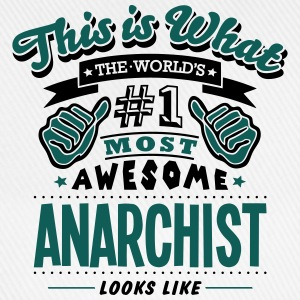 anarchist world no1 most awesome - Baseball Cap