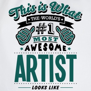 artist world no1 most awesome - Drawstring Bag