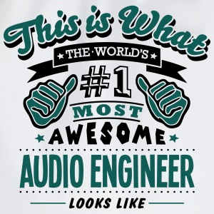 audio engineer world no1 most awesome co - Drawstring Bag