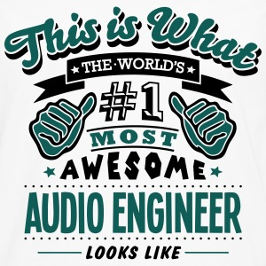 audio engineer world no1 most awesome co - Men's Premium Longsleeve Shirt