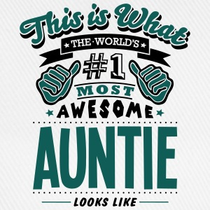 auntie world no1 most awesome - Baseball Cap