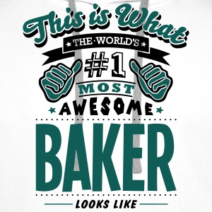 baker world no1 most awesome - Men's Premium Hoodie