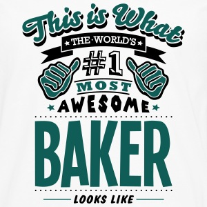baker world no1 most awesome - Men's Premium Longsleeve Shirt