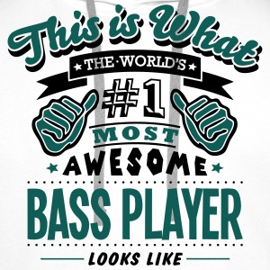 bass player world no1 most awesome - Men's Premium Hoodie
